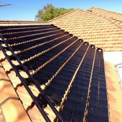 solar pool heating install carine