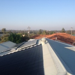 Solar Pool Heating Install - Greenwood