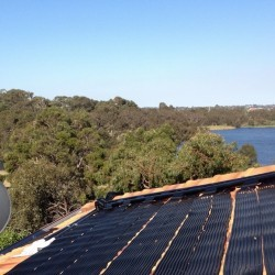 solar pool heating install - Karrinyup - 2